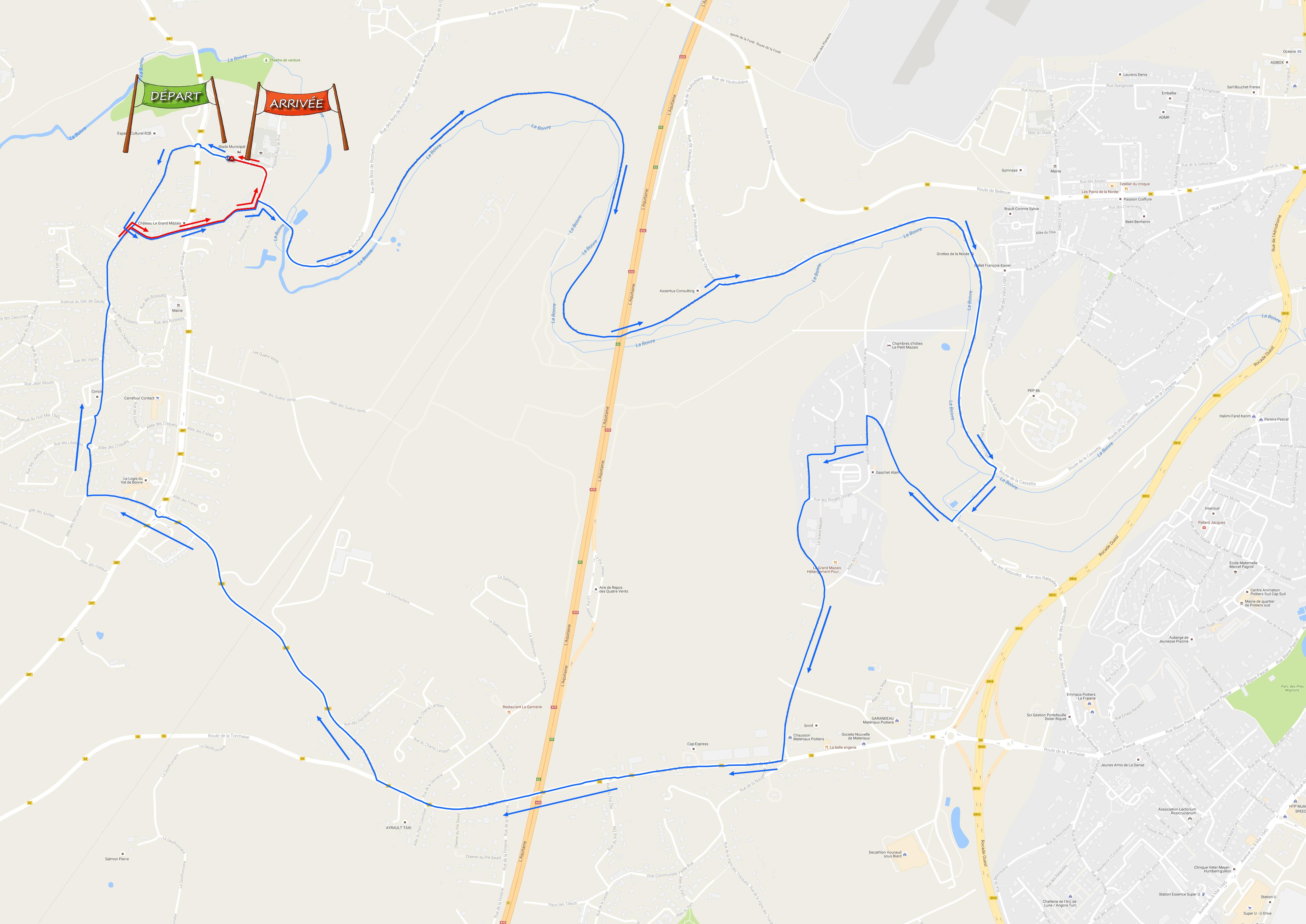 circuit 10 km de vouneuil 2016